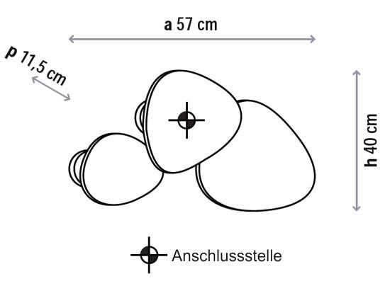 Bemassung-Tria-3-set-wandleuchte-Bover-lights4life