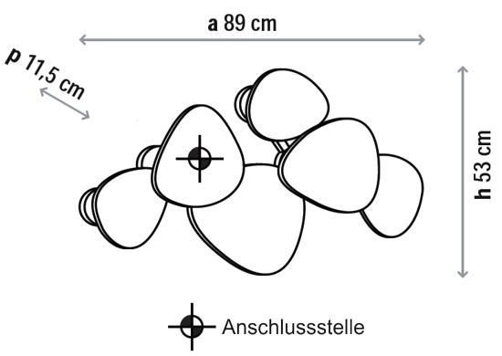 Bemassung-Tria-6-set-wandleuchte-Bover-lights4life
