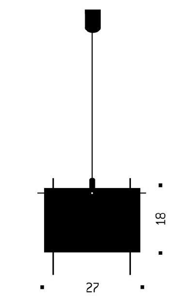 Bemassung - 24 Karat Blau - Pendelleuchte - Ingo Maurer