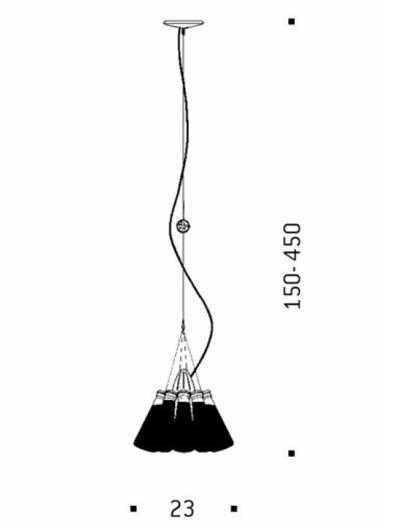 campari light pendelleuchte von ingo maurer