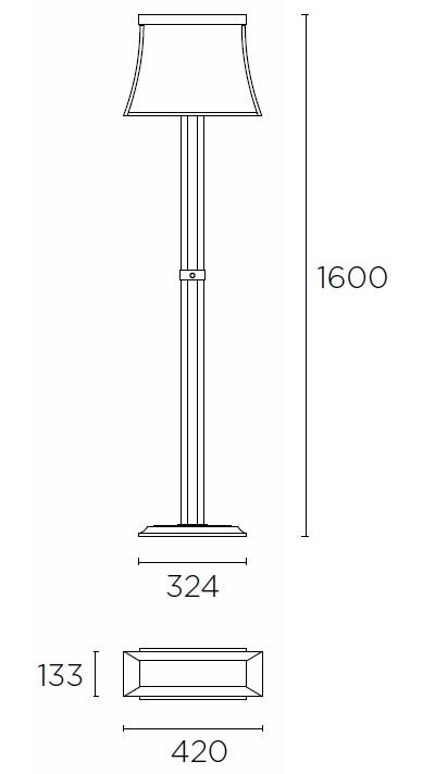 Bemassung Fancy Stehleuchte LEDS-C4