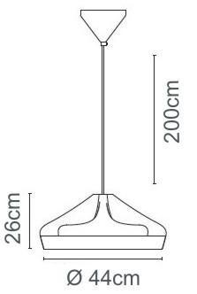 Pleat-Box-47-Marset-Pendelleuchte-Bemassung