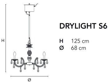 Bemassung-Drylight S6-Masiero-Kronleuchter-Aussenleuchte