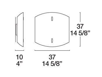 Bemassung Bauta 37 Wandleuchte - Deckenleuchte von iTre