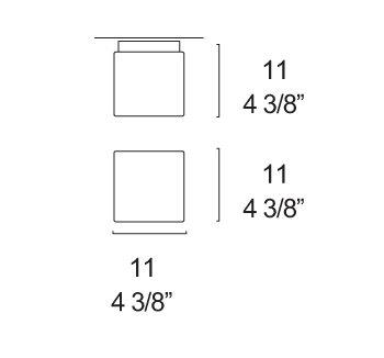 Bemassung Cubi 11 Wandleuchte - Deckenleuchte von iTre