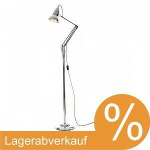 Anglepoise Duo 1227 Chrom / Kabel rot Stehleuchte