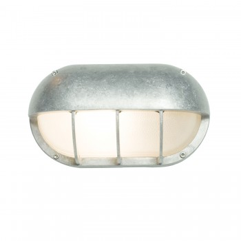 Davey Lighting Bulkhead Light Oval Aluminium Wandleuchte