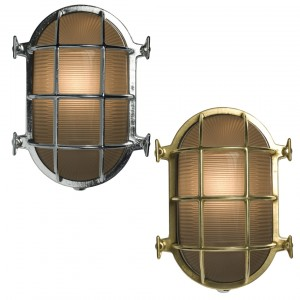 Davey Lighting Bulkhead Light Oval Messing Wandleuchte