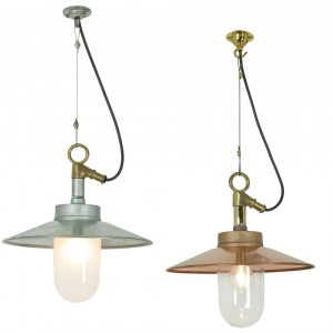 Davey Lighting Well Glass Pendant mit Schirm Aussenpendelleuchte