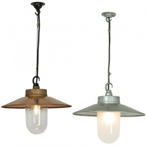 Davey Lighting Well Glass Pendant mit Schirm Pendelleuchte